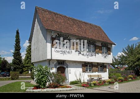 Gartenhaus (detached house), Isny, Allgaeu, Baden-Wuerttemberg, Germany - Stock Photo