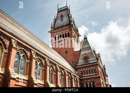 Memorial Hall at Harvard University in Boston - Stock Photo