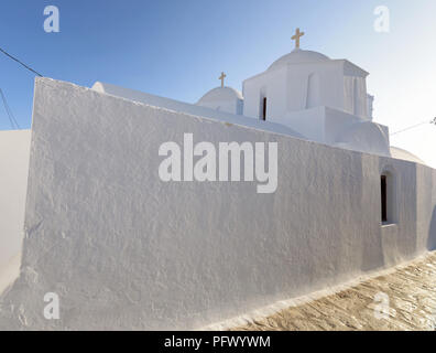 Traditional church in Amorgos, Cyclades - Stock Photo