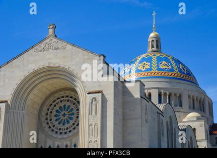 Basilica of the National Shrine Catholic Church, Washington DC, USA. - Stock Photo