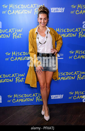 Talia Dean attending The Miseducation of Cameron Post gala screening at the Picturehouse Central in London. - Stock Photo