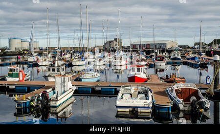 Wick harbour ,Scotland - Stock Photo