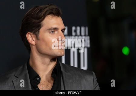 Actor Henry Cavill on the red carpet prior to a screening of Mission Impossible Fallout a the Smithsonian National Air and Space Museum on July 22, in Washington, DC. - Stock Photo