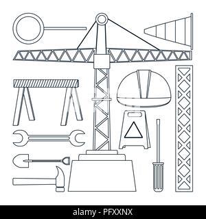 Set of construction icons - Stock Photo