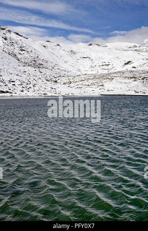 Fuscher Lacke, small mountain lake at 2262 m on the Großglockner High Alpine Road, Hohe Tauern National Park, Carinthia - Stock Photo