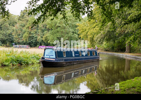 Staffordshire and Worcestershire Canal between Stourton Junction and Kinver, Staffordshire, England, UK - Stock Photo
