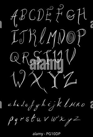 hand drawn font sheet - Stock Photo