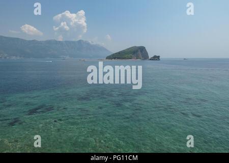 St Nicholas Island - Sveti Nikola Island - in the Southern Adriatic, Budva, Montenegro - Stock Photo