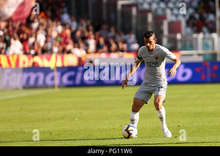 Alessandro Florenzi of As Roma  in action during the Serie A football match between Torino Fc and As Roma  . - Stock Photo