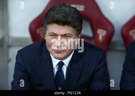 Walter Mazzarri, head coach of Torino FC, gestures  during the Serie A football match between Torino Fc and As Roma. - Stock Photo