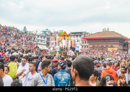 """Kathmandu Nepal, Sep 5,2017 : Indra Jatra is an important annual festival in Nepal, particularly in the capital city of Kathmandu. """"Indra"""" is the name - Stock Photo"""