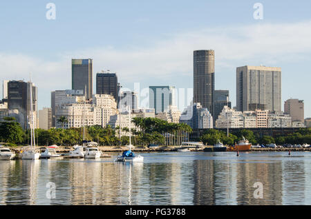 Rio De Janeiro, Brazil. 30th Apr, 2014. A view of the business district of Rio de Janeiro.Rio de Janeiro is the fourth most populous city in South America with a population above 6 million people. Credit: Omar Marques/SOPA Images/ZUMA Wire/Alamy Live News - Stock Photo