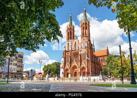 Basilica of the Assumption of the Blessed Virgin Mary in Bialystok, Podlaskie Voivodeship, Poland - Stock Photo