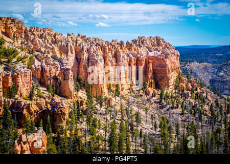 Natural rock formation of the famous site of Bryce Canyon National Park - Stock Photo