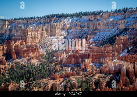 Red Rocks Hoodoos in Bryce Point at Bryce Canyon National Park, Utah - Stock Photo