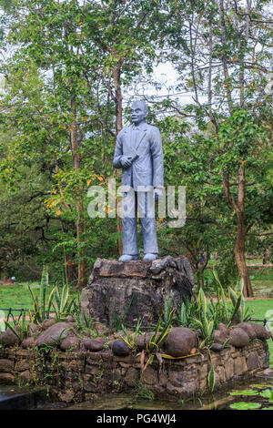 Statue in the Royal Gardens at the historical citadel monument of Sigiriya or Lion Rock in the Cultural Triangle of Sri Lanka - Stock Photo