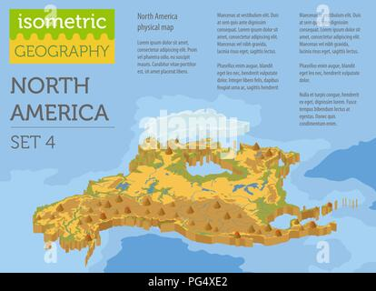 Canada 3D Physical Map with Relief Stock Photo: 220505240 - Alamy