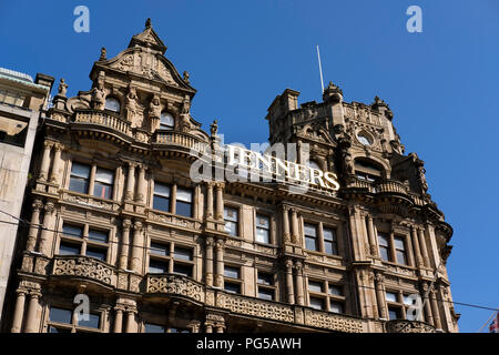 The exterior of Jenners department store, part of House of Fraser, on Princes Street, Edinburgh. - Stock Photo