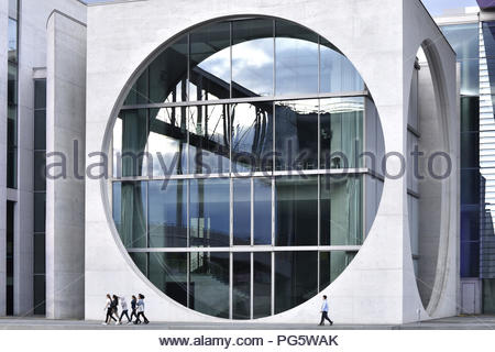 Marie Elisabeth Luders Haus - modern landmark architecture. It is one of the government buildings in Berlin Germany. Designed by Stephan Braunfels. - Stock Photo