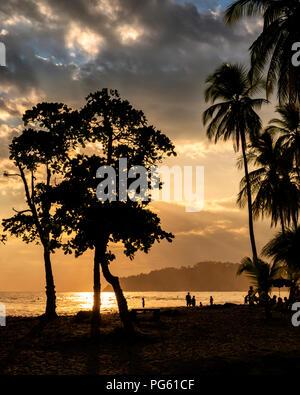 Beach, Corcovado National Park, Osa Peninsula, Costa Rica. - Stock Photo