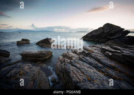 UK, Scotland, Isle of Skye, beach of Elgol at sunset - Stock Photo