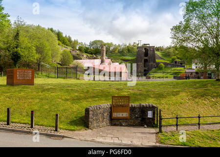 The entrance to at Blaenavon Ironworks, now a museum and UNESCO World Heritage Site in Blaenavon, Gwent, Wales, UK - Stock Photo