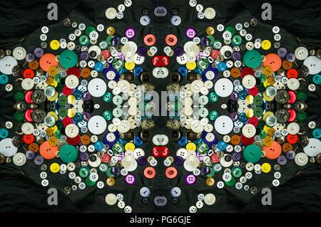 kaleidoscopic buttons - Stock Photo