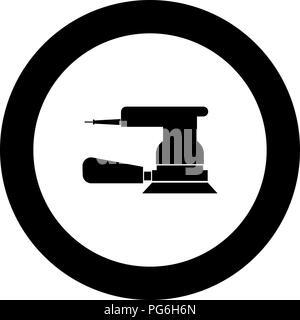 Eccentric grinder icon black color in round circle vector I - Stock Photo