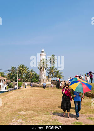Vertical view of the lighthouse in Galle, Sri Lanka. - Stock Photo