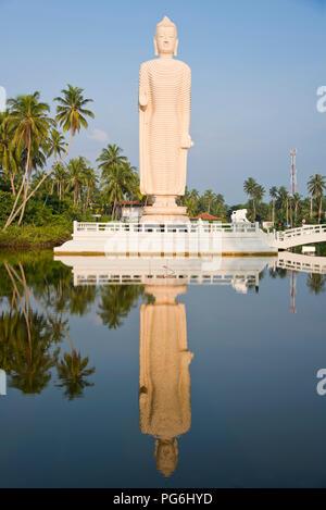 Vertical view of the Tsunami Memorial in Hikkaduwa, Sri Lanka. - Stock Photo