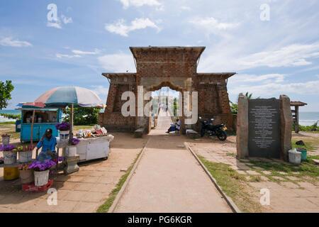 Horizontal view of Matara Paravi Duwa Temple, Sri Lanka. - Stock Photo