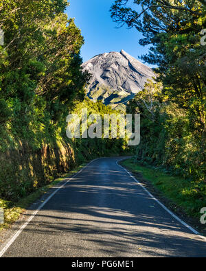 New Zealand, North Island, Egmont National Park, view to Mount Taranaki - Stock Photo