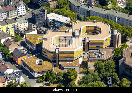 renovated Technical Town Hall Bochum, inner city, Ruhr area, North Rhine-Westphalia, Germany, Bochum, DEU, Europe, aerial view, birds-eyes view, aeria - Stock Photo