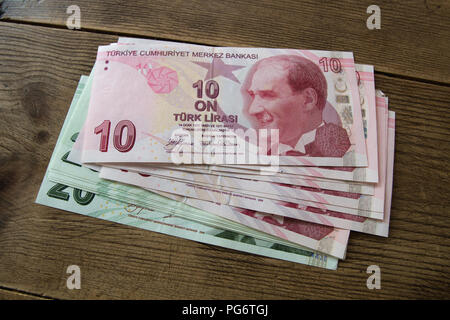 BANK NOTES: Turkish Lira - Stock Photo