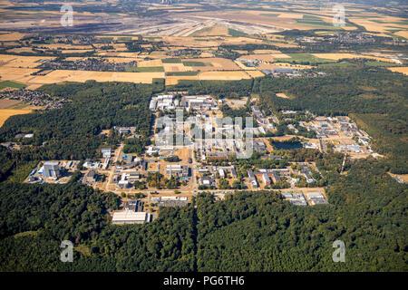 Commercial Area Technology Center Jülich GmbH, experimental nuclear power plant, Hambach, Jülich, Rheinland, Nordrhein-Westfalen, Germany, DEU, Europe - Stock Photo