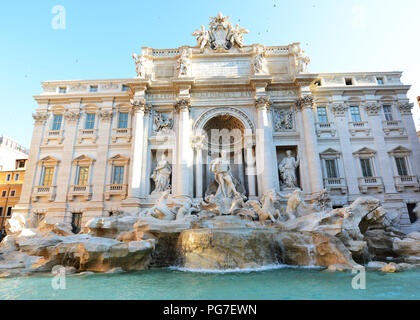 The beautiful Trevi fountain in Rome, Italy. - Stock Photo