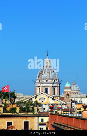 The Basilica of SS. Ambrose and Charles on the Corso in Rome, Italy. - Stock Photo