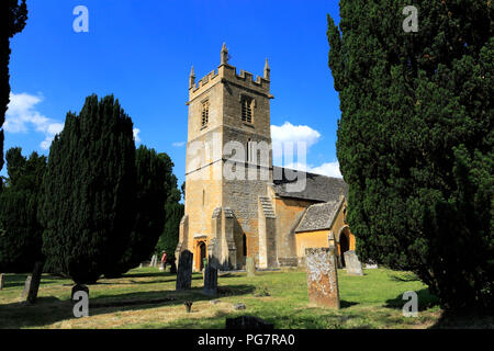 St Peter's Church, Stanway House and gardens, Stanway village, Gloucestershire, Cotswolds, England - Stock Photo