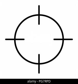 Illustration of a black target isolated on white background - Stock Photo