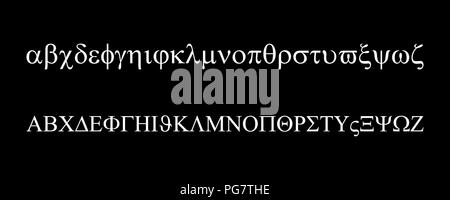 Greek alphabet set - Stock Photo