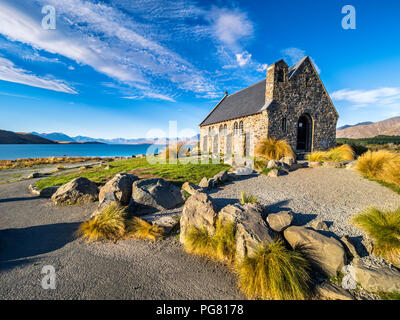 New Zealand, South Island, Canterbury Region, Church of the Good Shepherd - Stock Photo