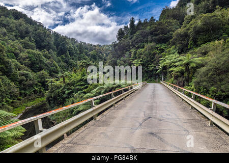 New Zealand, North Island, Taranaki, Forgotten World Highway - Stock Photo