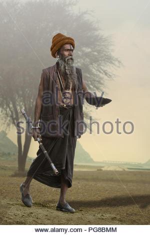 indian sadhu - Stock Photo