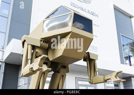Moscow Region, Russia. 20th Aug, 2018. August 20, 2018. - Russia, Moscow Region. - A 4.5 tonne pilot-operated walking robot code-named Igoryok designed by the Kalashnikov Concern is displayed at the Russian Army Tomorrow exhibition as part of the 4th international military technical forum Army 2018, Kubinka. Mandatory credit: Kalashnikov Media. Credit: Kalashnikov Media/Russian Look/ZUMA Wire/Alamy Live News - Stock Photo