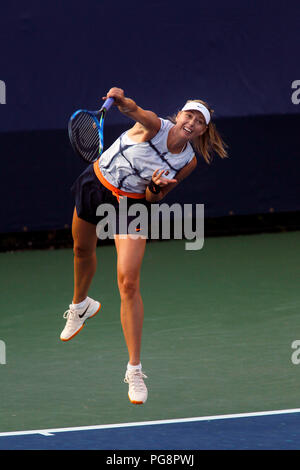 New York, USA, August 24, 2018 - US Open Tennis Practice:  Maria Sharapova practicing today at the Billie Jean King National Tennis Center in Flushing Meadows, New York, as players prepared for the U.S. Open which begins next Monday. Credit: Adam Stoltman/Alamy Live News - Stock Photo