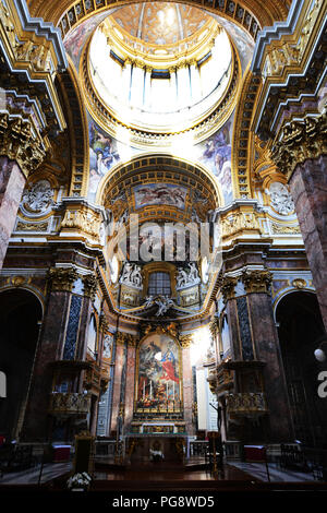 San Carlo al Corso Basilica in Rome, Italy. - Stock Photo