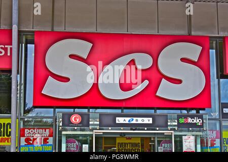The ScS furniture store at Bridgend Retail Park,Bridgend S.Wales - Stock Photo