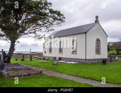 COUNTY DONEGAL, IRELAND - AUGUST 12th 2018: St Crone's Church of Ireland, Dungloe. - Stock Photo