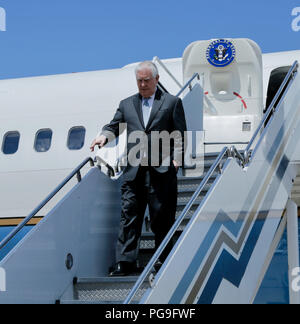 U.S. Secretary of State Rex Tillerson arrives in Buenos Aires, Argentina, on February 4, 2018. - Stock Photo