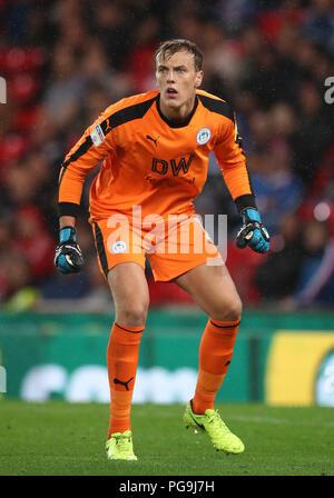 Wigan Athletic goalkeeper Christian Walton - Stock Photo